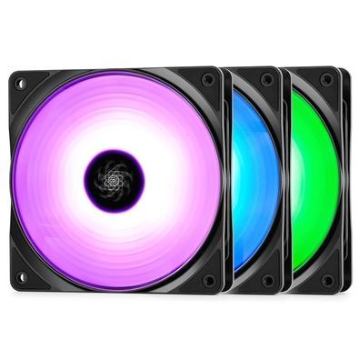 Kit Cooler DeepCool RF 120 com 3 Unidades, RGB, 12cm - DP-FRGB-RF120-3C