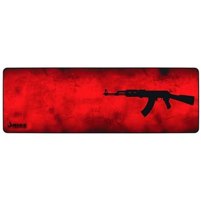 Mousepad Gamer Rise Mode AK47, Speed, Extra Grande (900x300mm), Vermelho - RG-MP-06-AKR