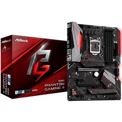 Placa-Mãe ASRock B365 Phantom Gaming 4, Intel LGA 1151, ATX, DDR4 - 90-MXB9U0-A0UAYZ
