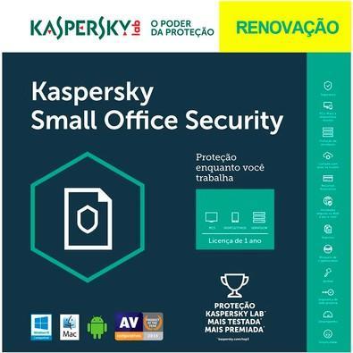 Kaspersky Small Office Security 6 Multidispositivos 5 PCs + 5 Mobile + 1 Server Renovação - Digital para Download