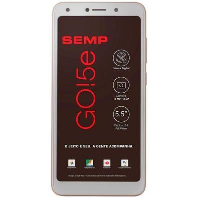 Smartphone Semp Go! 5E, 16GB, 13MP, Tela 5.5´, Dourado