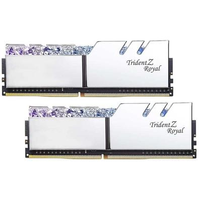 Memória G.Skill Trident Z Royal, 16GB (2x8GB), 3200Hz, DDR4, C16 - F4-3200C16D-16GTRS