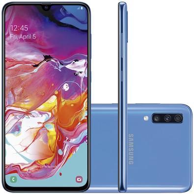 Smartphone Samsung Galaxy A70, 128GB, 32MP, Tela 6.7´, Azul - SM-A705MN/1DL