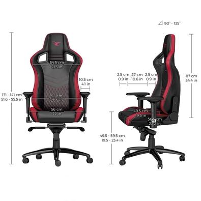 Cadeira Gamer Noblechairs EPIC, Mousesports Edition Black Red - NBL-PU-MSE-001