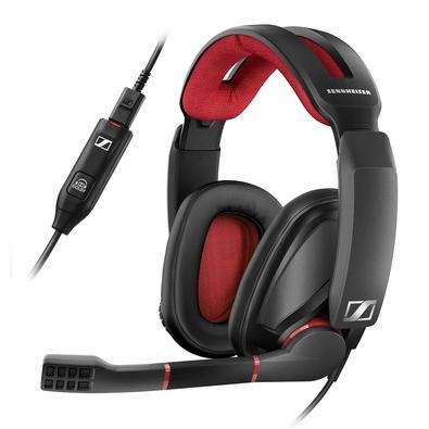 Headset Gamer Epos Sennheiser GSP 350, Som Surround Dolby, Preto e Vermelho - 507081
