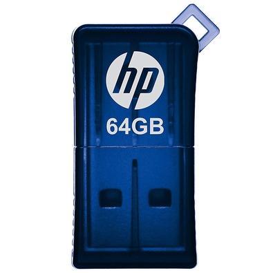 Pen drive HP Mini V165W, 64GB, USB 2.0, Azul - HPFD165W2-64