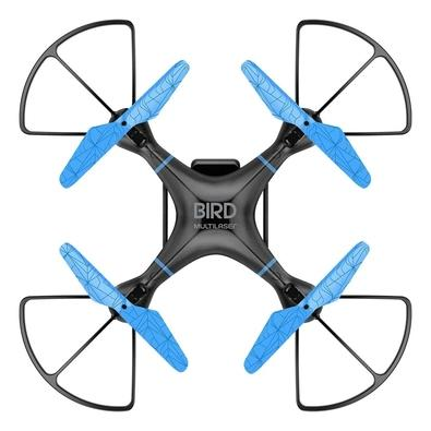 Drone Multilaser Bird, Flips em 360°, Alcance Máx 80m, com Controle Remoto, Preto/Azul - ES255