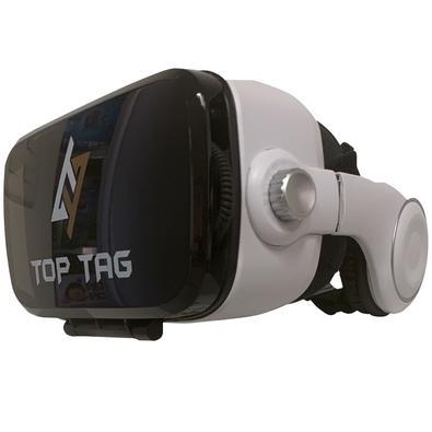 Óculos de Realidade Virtual Top Tag 3D Serie Gold, com Fone - OCULOS3DGOLDI