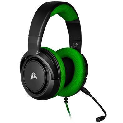 Headset Gamer Corsair HS35 Stereo, Drivers 50mm, Verde - CA-9011197-NA