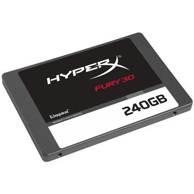 SSD HyperX Fury 3D, 240GB, SATA, Leitura 500 MB/s, Gravação 500 MB/s - KC-S44240-6F