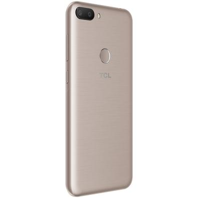 Smartphone TCL L10, 32GB, 16MP, Tela 5.5´, Dourado + Capa e Película - 5124J-PDLCBR2