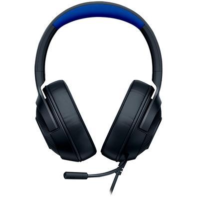 Headset Gamer Razer Kraken X, PS4/Xbox One/Switch/PC, Preto/Azul - RZ04-02890200-R3U1