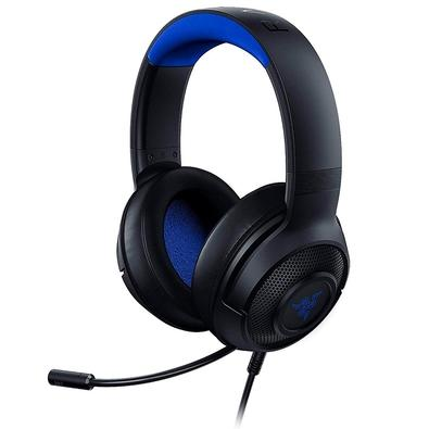 Headset Gamer Razer Kraken X, P2, Drivers 40mm, Console Black/Blue - RZ04-02890200-R3U1