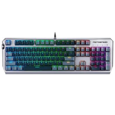 Teclado Mecânico Gamer Motospeed CK80, RGB, Switch Zeus Optical, US - BMSTC0032CIZ