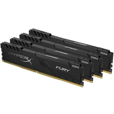 Memória HyperX Fury, 64GB (4x16GB), 2666MHz, DDR4, CL16, Preto - HX426C16FB3K4/64