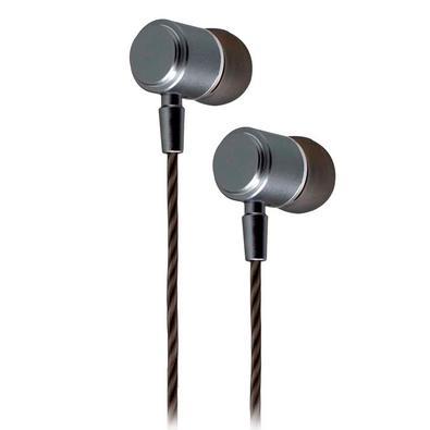 Fone de Ouvido Evolut Magnético, Com Microfone, Prata -  EO-1002GY