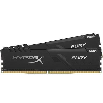 Memória HyperX Fury, 32GB (2x16GB), 3000MHz, DDR4, CL15, Preto - HX430C15FB3K2/32