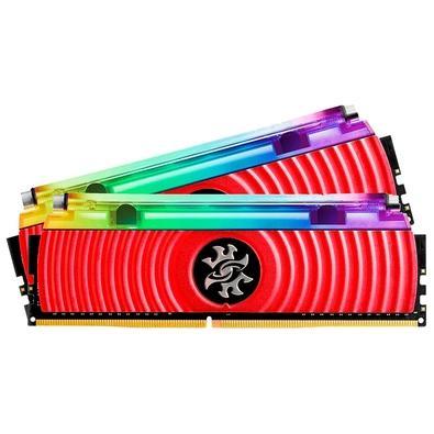 Memória XPG Spectrix D80 RGB 16GB (2x8GB), 3200MHz, DDR4, CL16, Vermelho - AX4U320038G16-DR80