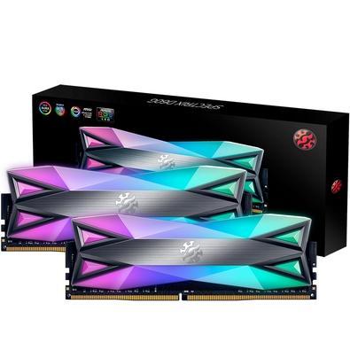 Memória XPG Spectrix D60G RGB 16GB (2x8GB), 3000MHz, DDR4, CL16, Cinza - AX4U300038G16-DT60