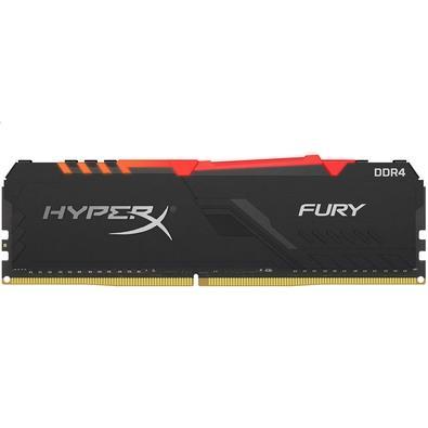 Memória HyperX Fury RGB, 16GB, 2400MHz, DDR4, CL15, Preto - HX424C15FB3A/16