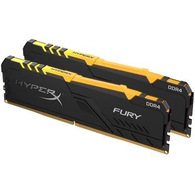 Memória HyperX Fury RGB, 16GB (2x8GB), 3000MHz, DDR4, CL15, Preto - HX430C15FB3AK2/16