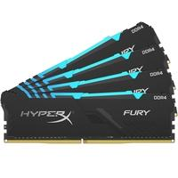 Memória HyperX Fury RGB, 64GB (4x16GB), 3200MHz, DDR4, CL16, Preto - HX432C16FB3AK4/64