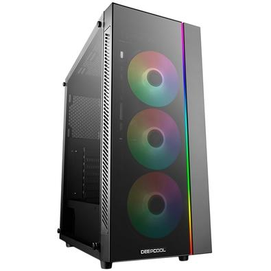 Gabinete Deepcool Matrexx 55 ADD-RGB 3F, RGB, com FAN, Lateral em Vidro - DP-ATX-MATREXX55-AR-3F