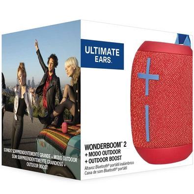 Caixa de Som Bluetooth Ultimate Ears WONDERBOOM 2 Portátil e À Prova D´Água - Até 13 horas de Bateria - Vermelha - 984-001556