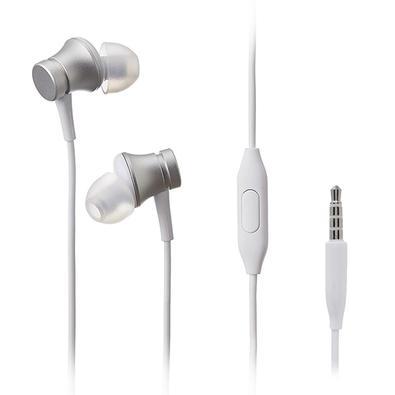 Fone de Ouvido Xiaomi Mi In-Ear Headphones Basic, com Microfone, Prata - XM280PRA