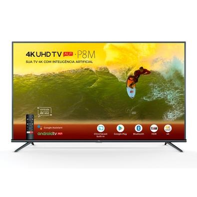 Smart TV LED 50´ 4K TCL, Android TV, 3 HDMI, 2 USB, Bluetooth, Wi-Fi, HDR, Chumbo - 50P8M