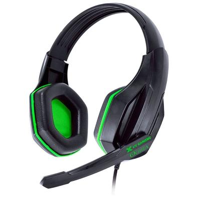 Headset Gamer Vinik VX Gaming Ogma, Drivers 40mm, Preto e Verde - 29868