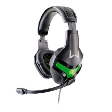 Headset Gamer Warrior Harve, Drivers 40mm, Preto e Verde -  PH298