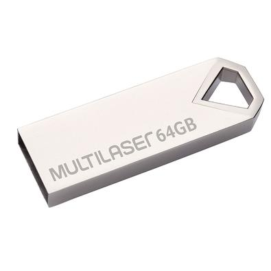 Pen Drive Multilaser Diamond, 64GB, Metálico - PD852