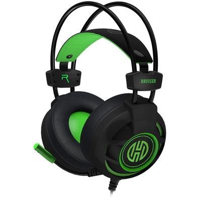 Headset Gamer Hoopson Bruiser, LED, Drivers 40mm, Preto/Verde - DG-28 G