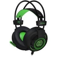 Headset Gamer Hoopson Bruiser, LED, Drivers 40mm, Preto/Verde - DG-28 G