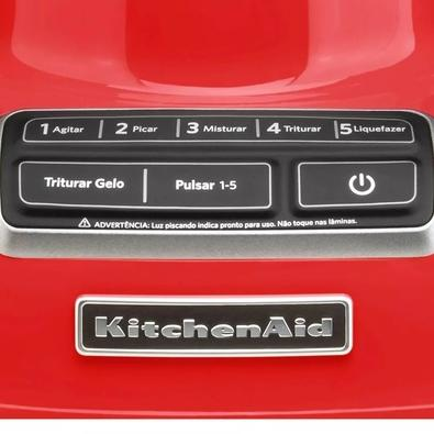 Liquidificador KitchenAid Diamond, 5 Velocidades, 650W, 110V, Empire Red - KUA15AVANA