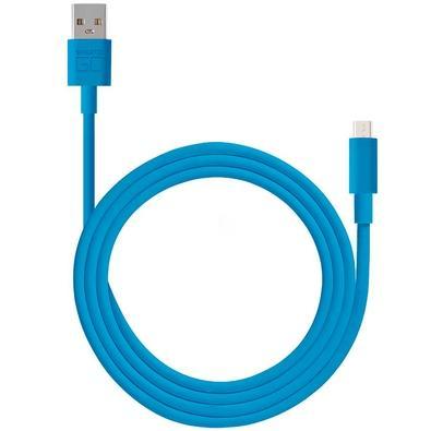 Cabo Micro USB Smartogo Multilaser, Blindado, 1.2m, Azul - WI394