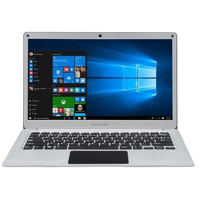 Notebook  Multilaser Legacy Book, Intel Celeron, 4GB, HD 32GB, SSD 120GB, Windows 10, 13.3´, Prata - PC240