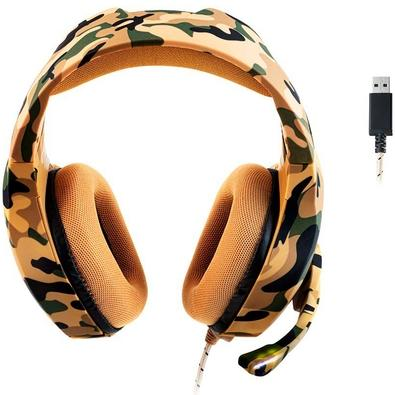Headset Gamer Warrior Straton, LED Branco, Drivers 50mm - PH305