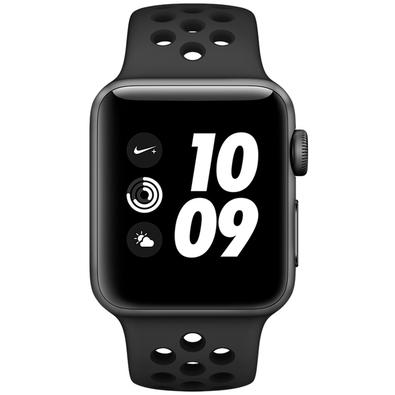 Apple Watch Nike Series 3, GPS, 38mm, Caixa Cinza Espacial com Pulseira Esportiva Carvão/Preta - MTF12BZ/A
