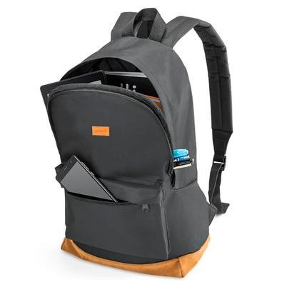 Mochila Multilaser Backpack, para Notebook até 15.6´, Preta e Marrom - BO407