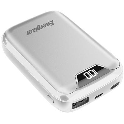 Power Bank Energizer UE10042 Max, 10000mAh,  2 USB, Cabo Micro USB, Branco - UE10042WH
