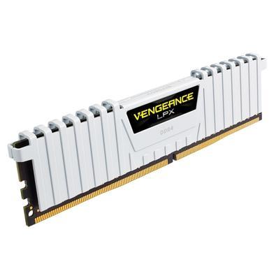 Memória Corsair Vengeance LPX, 16GB (2x8GB), 3200MHz, DDR4, CL16, Branco - CMK16GX4M2B3200C16W