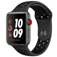Apple Watch Nike Series 3, 42mm, Cinza Espacial, Pulseira Nike Preta - MTH42BZ/A