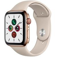 Apple Watch Series 5, GPS + Cellular, 44mm, Dourado, Pulseira Cinza - MWWH2BZ/A