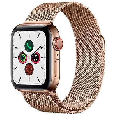Apple Watch Series 5, GPS, 40mm, Dourado, Pulseira Dourada - MWX72BZ/A
