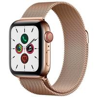 Apple Watch Series 5, GPS + Cellular, 40mm, Dourado, Pulseira Dourada - MWX72BZ/A