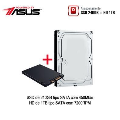 Computador Gamer BRX POWERED BY ASUS Intel Core i5-9400F, 16GB, HD 1TB, SSD 240GB, Asus NVIDIA GeForce GTX 1660 6GB, Windows 10 Pro - BRXPCI59400F240GB100GB