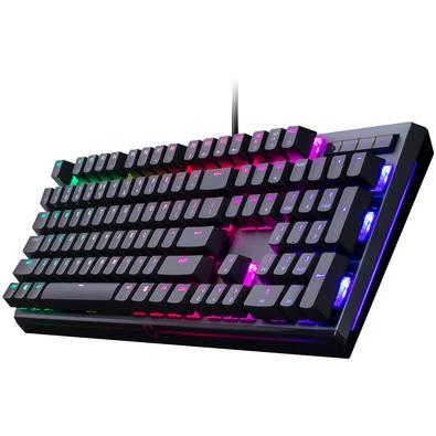 Teclado Mecânico Gamer Cooler Master MK750, RGB, Switch Cherry MX Blue, US - MK-750-GKCL2-US