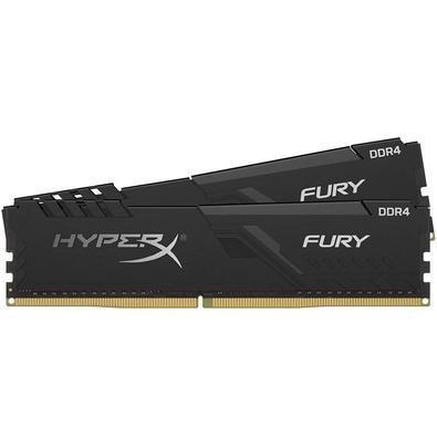 Memória HyperX Fury, 16GB (2x8GB), 3600MHz, DDR4, CL17, Preto - HX436C17FB3K2/16
